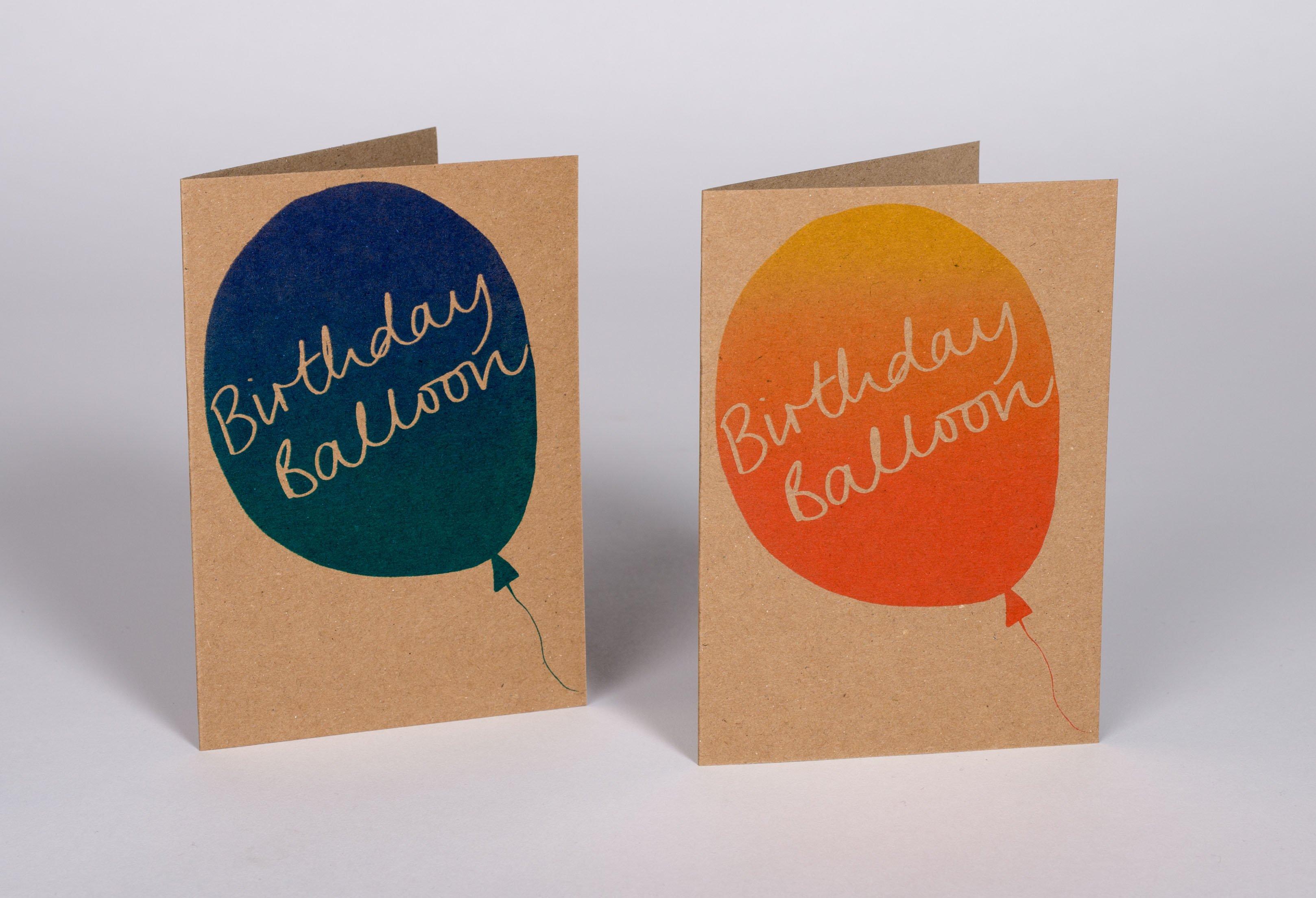 Birthday balloon greeting card kirstie williams designer maker birthday balloon greeting card kirstie williams designer maker screen printer m4hsunfo